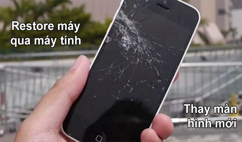 Màn hình điện thoại bị hỏng