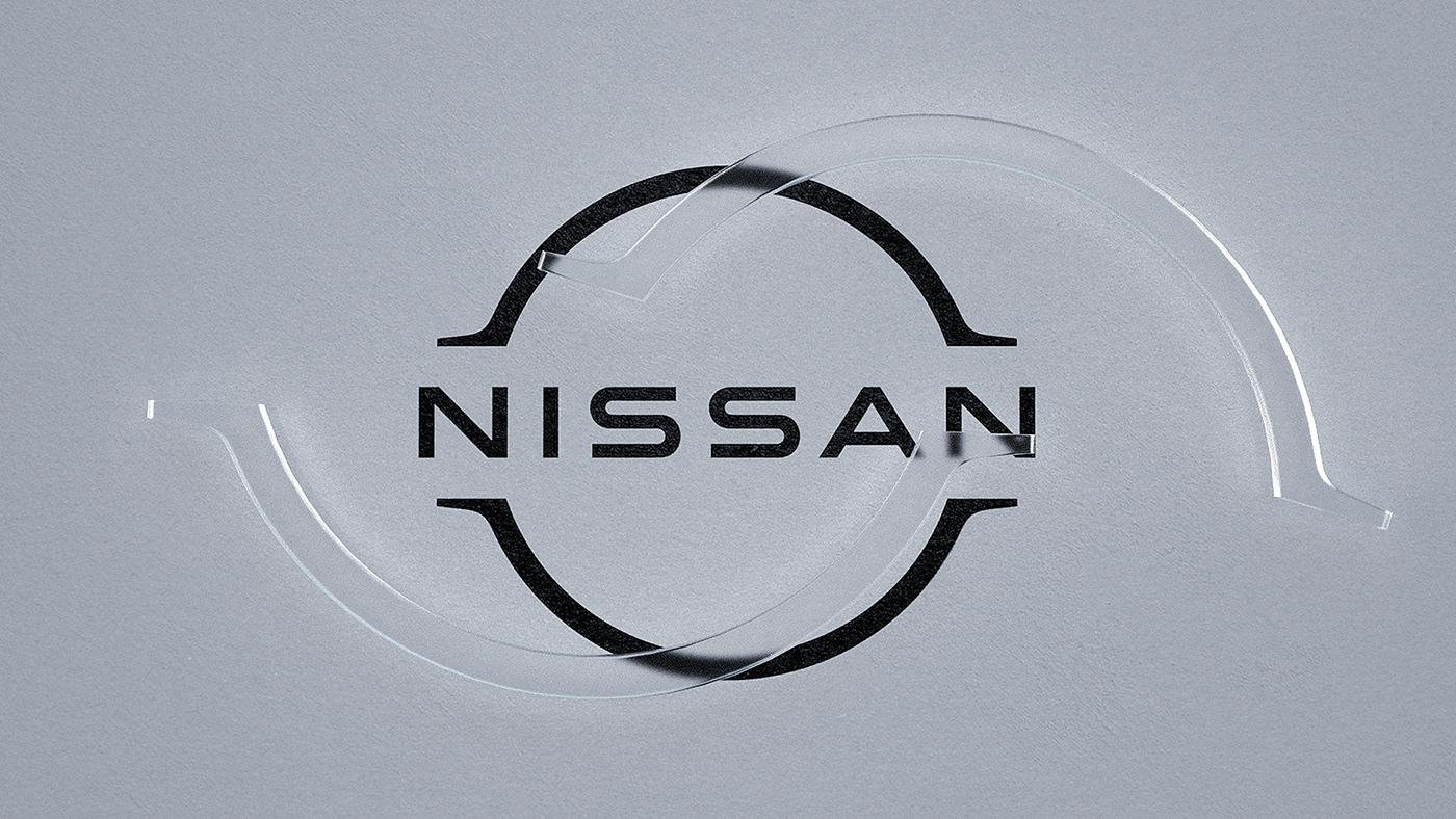 3d design 3d motion 3d textures animation  branding  CGI design logo motion design Nissan