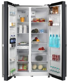 Panasonic 584 L with Inverter side-by-side Refrigerator - NR-BS60VKX1