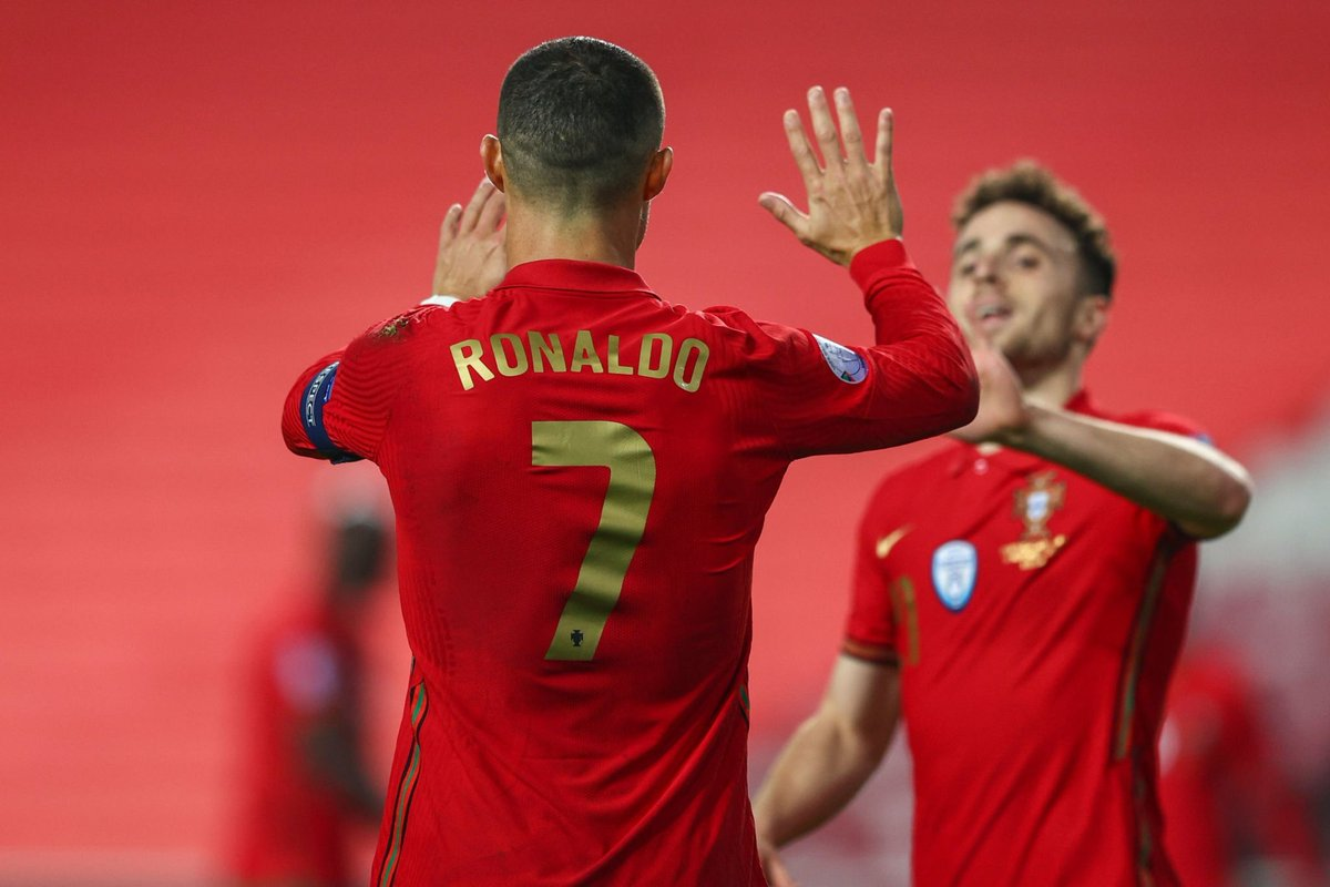 Skipper Cristiano Ronaldo and Diogo Jota representing Portugal