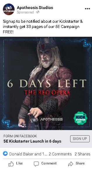 This red gentleman pulled his weight again with 51 leads at $1.16 each, the 2nd most leads of the countdown week posts.