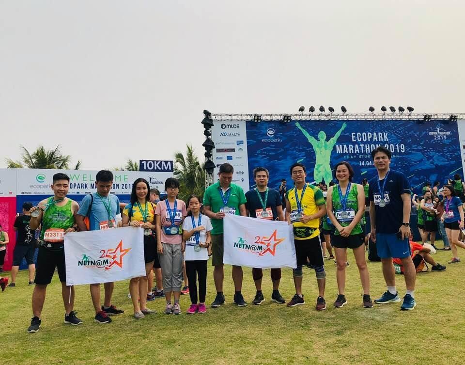 NetNam tham gia ngày hội EcoPark Marathon (EPM) 2019