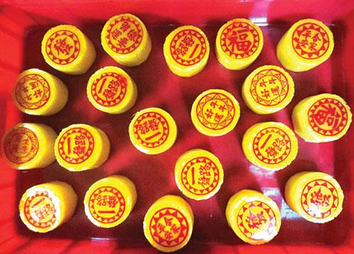 bánh cúng trên bàn thờ người Hoa