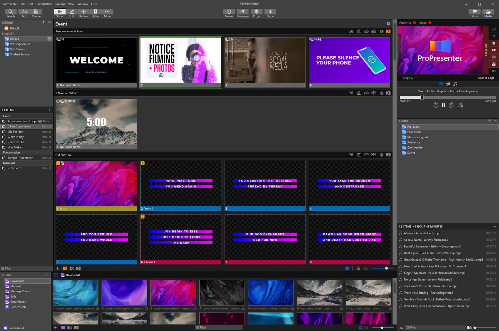 Propresenter App for Church Streaming Software Screenshot