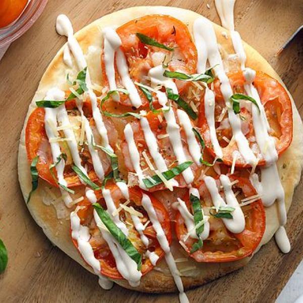 kids snacks ideas creamy pizza with cream sauce