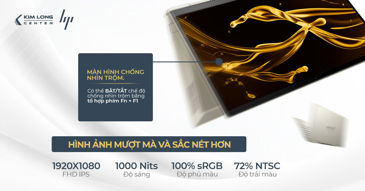 màn hình Envy X360 sở hữu nhiều ưu điểm nổi bật