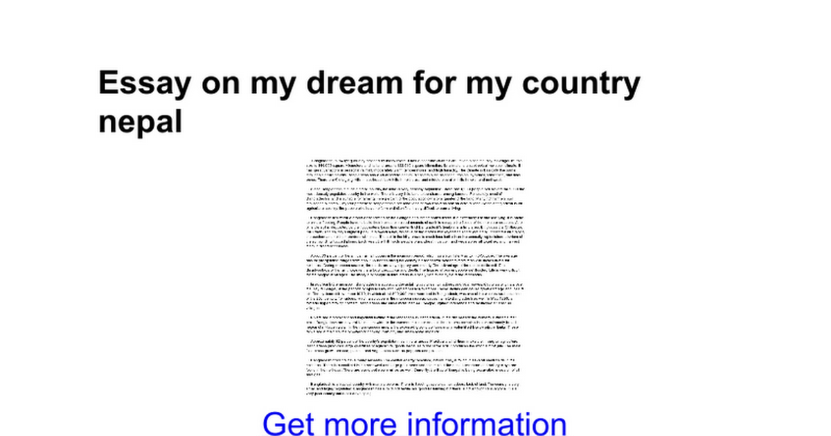 essay on my dream for my country google docs