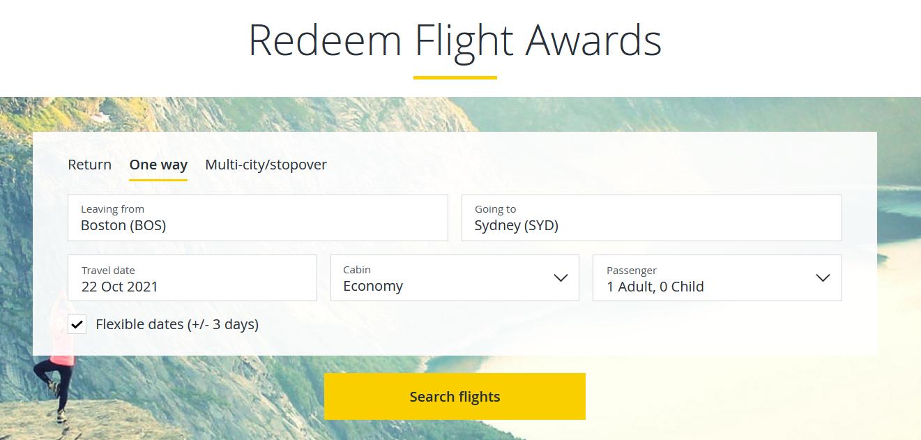 Reedem flight awards