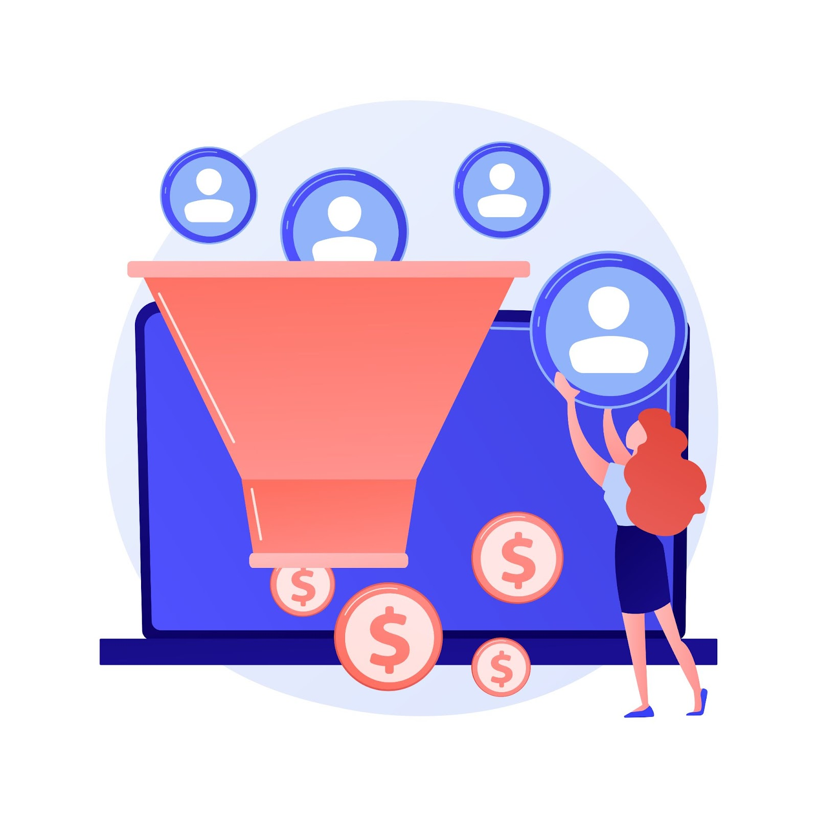 Your messaging changes depending on the funnel position