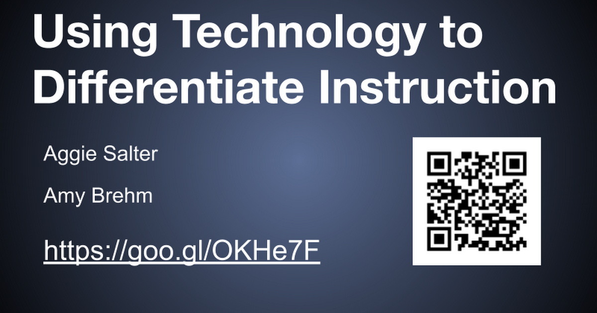 Using Technology To Differentiate Instructions Montello Google Slides