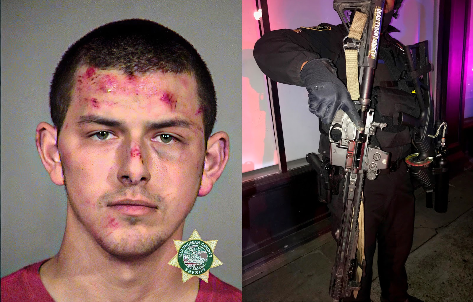 William Kahl Beecher was carrying a loaded rifle at the riot. Photo: MCSO