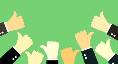 Many thumbs up on green background