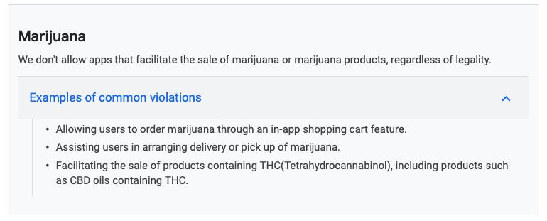 apple google cannabis apps