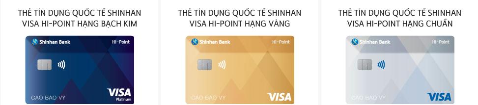 rút tiền mặt thẻ tín dụng Shinhan