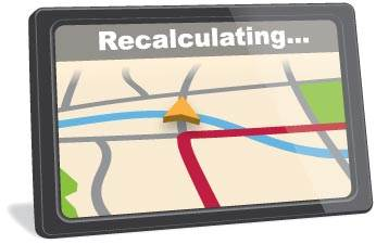 Image result for gps recalculating