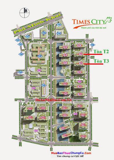 Bán chung cư Times City T2 T3