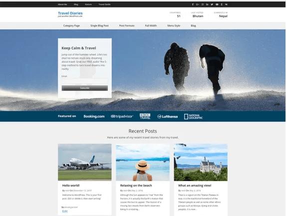 Travel Diaries theme
