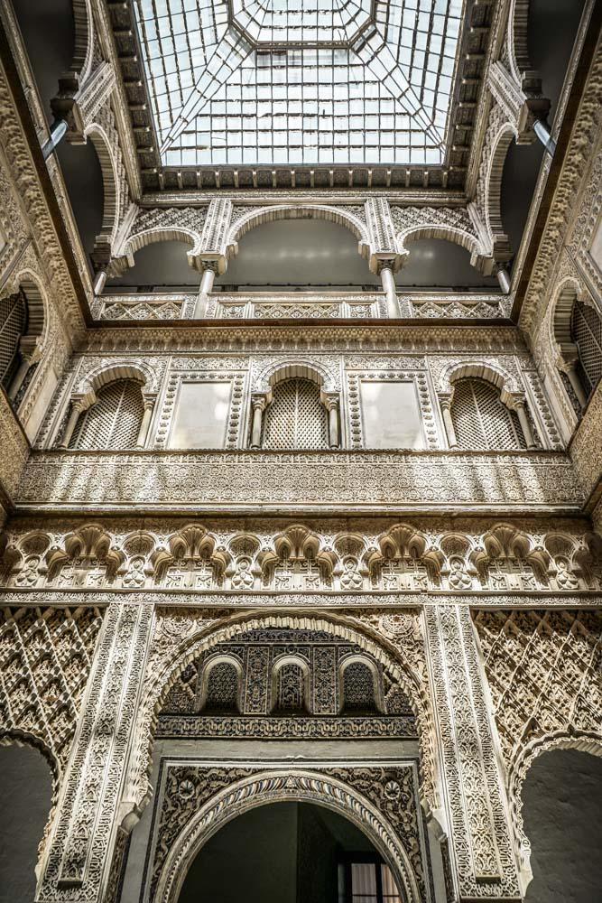 Inside the Palacio del Rey Don Pedro, Seville
