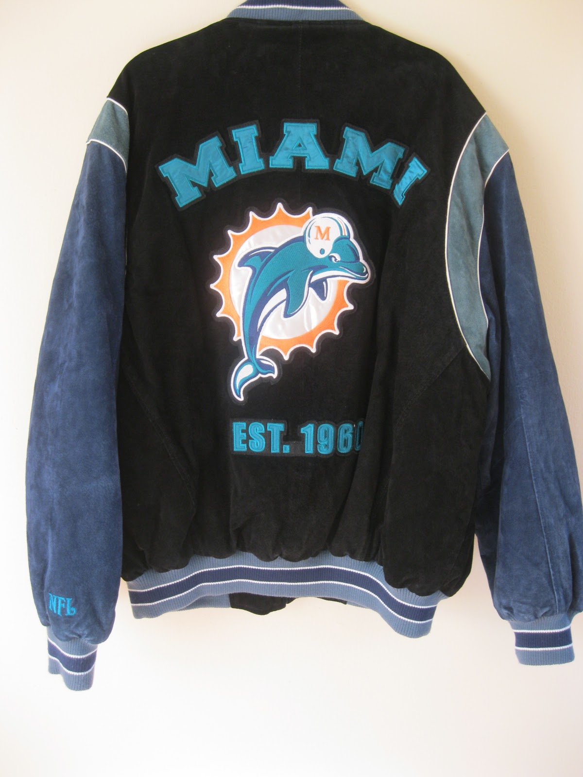 Miami dolphins leather jacket