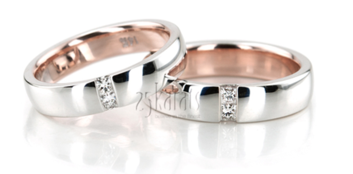 princess cut diamond wedding band set