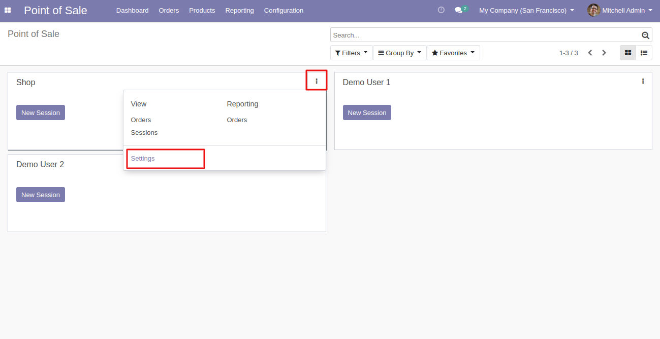Then  navigate to the settings of the POS session to usethe Odoo POS Multiple Receipts  module.