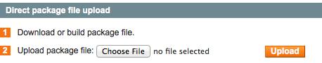 Select Choose File Button