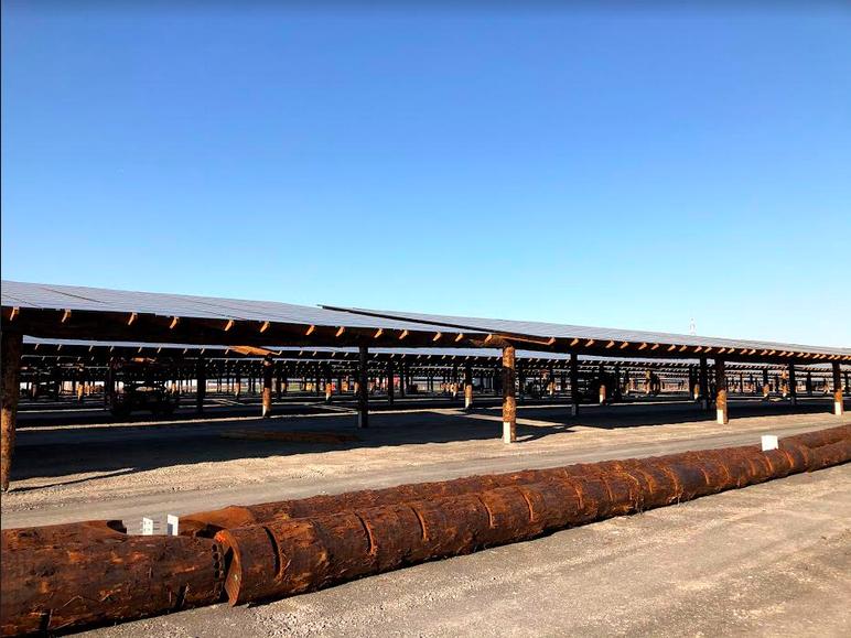 parking solaire Pairi Daiza
