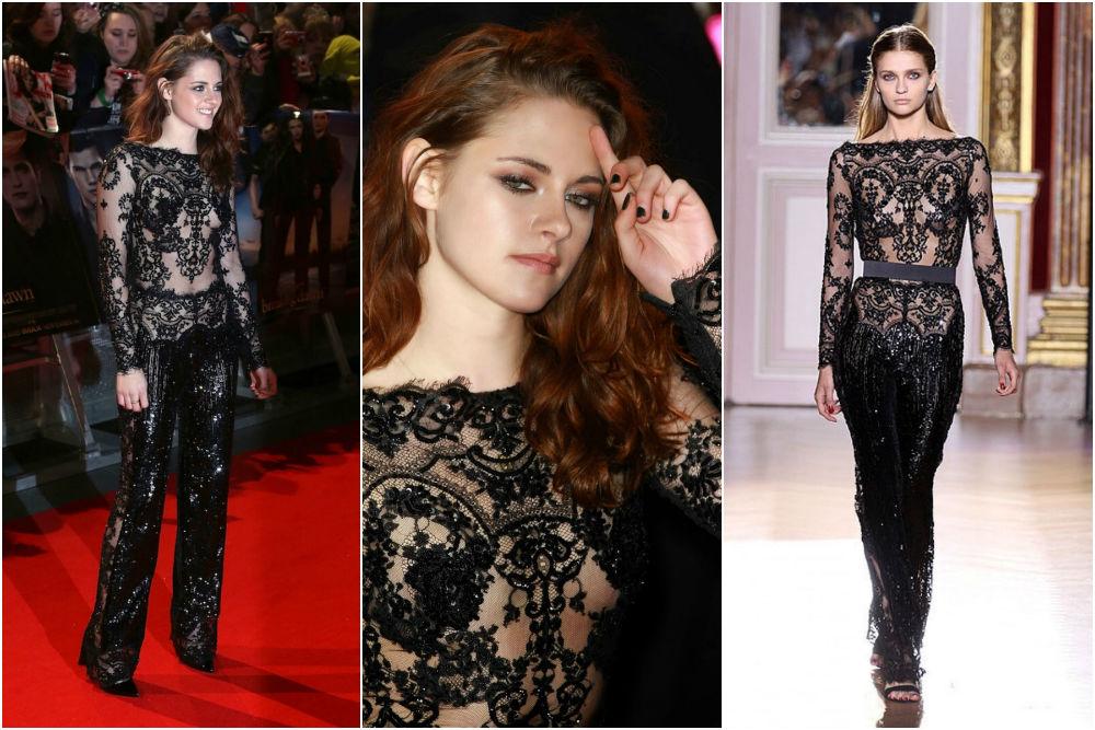 Kristen Stewart in Zuhair Murad at Twilight London Premiere