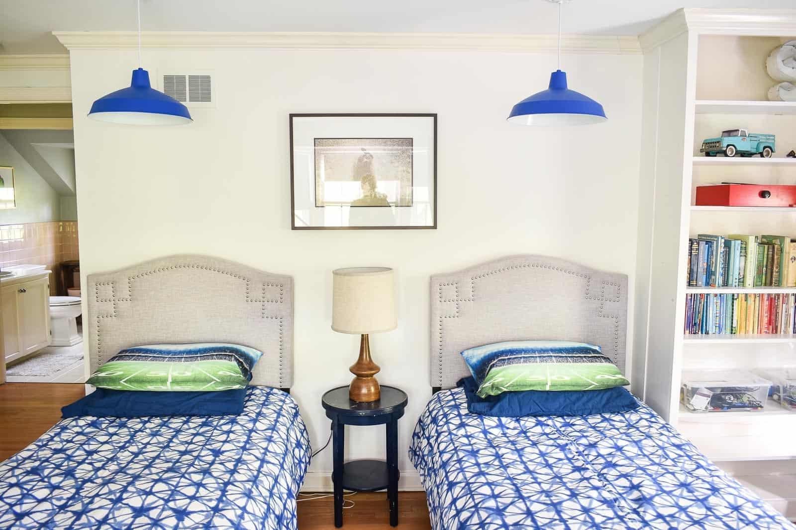 Blue Magic Pendant Light for Bedroom