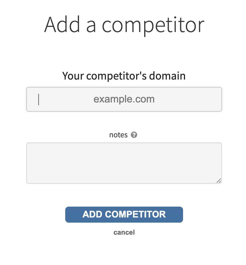 Backlink checker add competitor