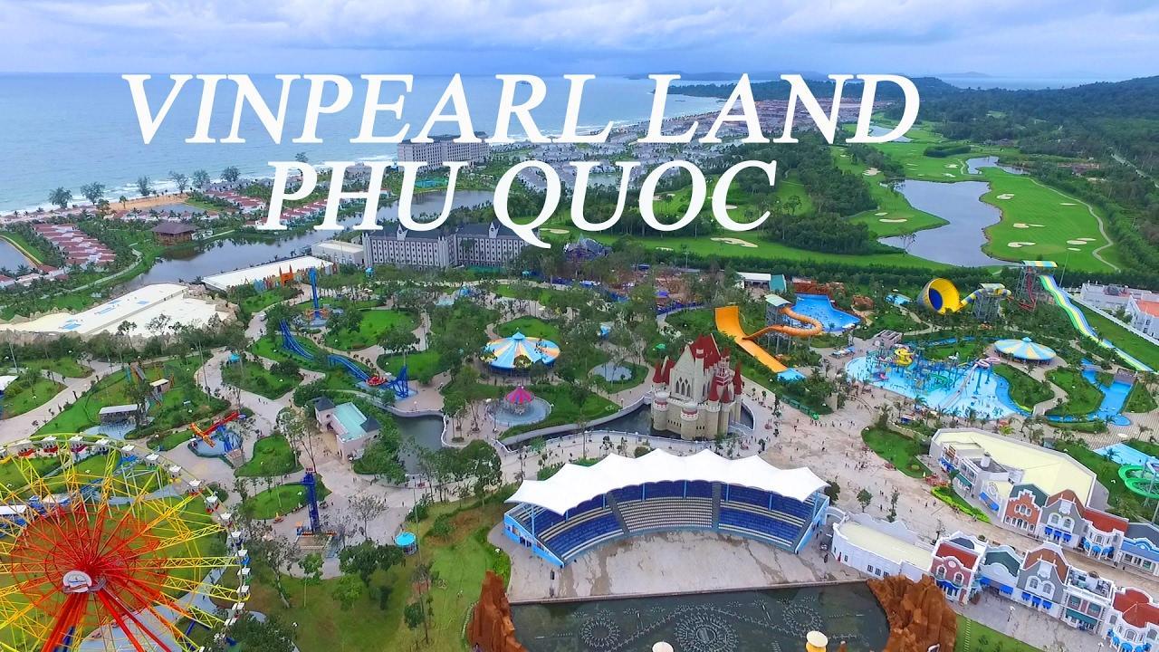 Toàn cảnh Vinpearl Land Phú Quốc nhìn từ trên cao