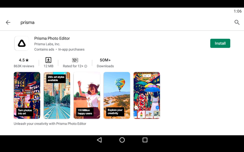 Prisma App for PC