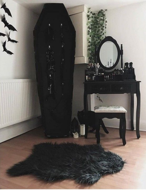 Add A Coffin Furniture to Your Gothic Bedroom