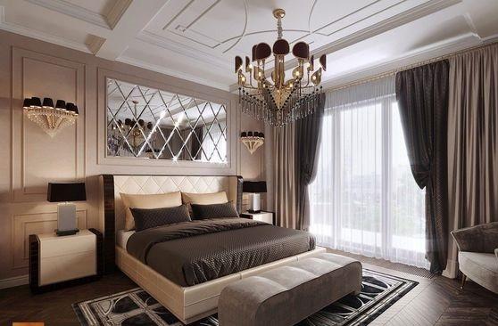 Sử dụng tông màu trầm thiết kế phòng ngủ chung cư