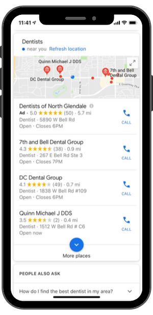 "Voice Search-""Hey Google, find a Dentist Near Me"""