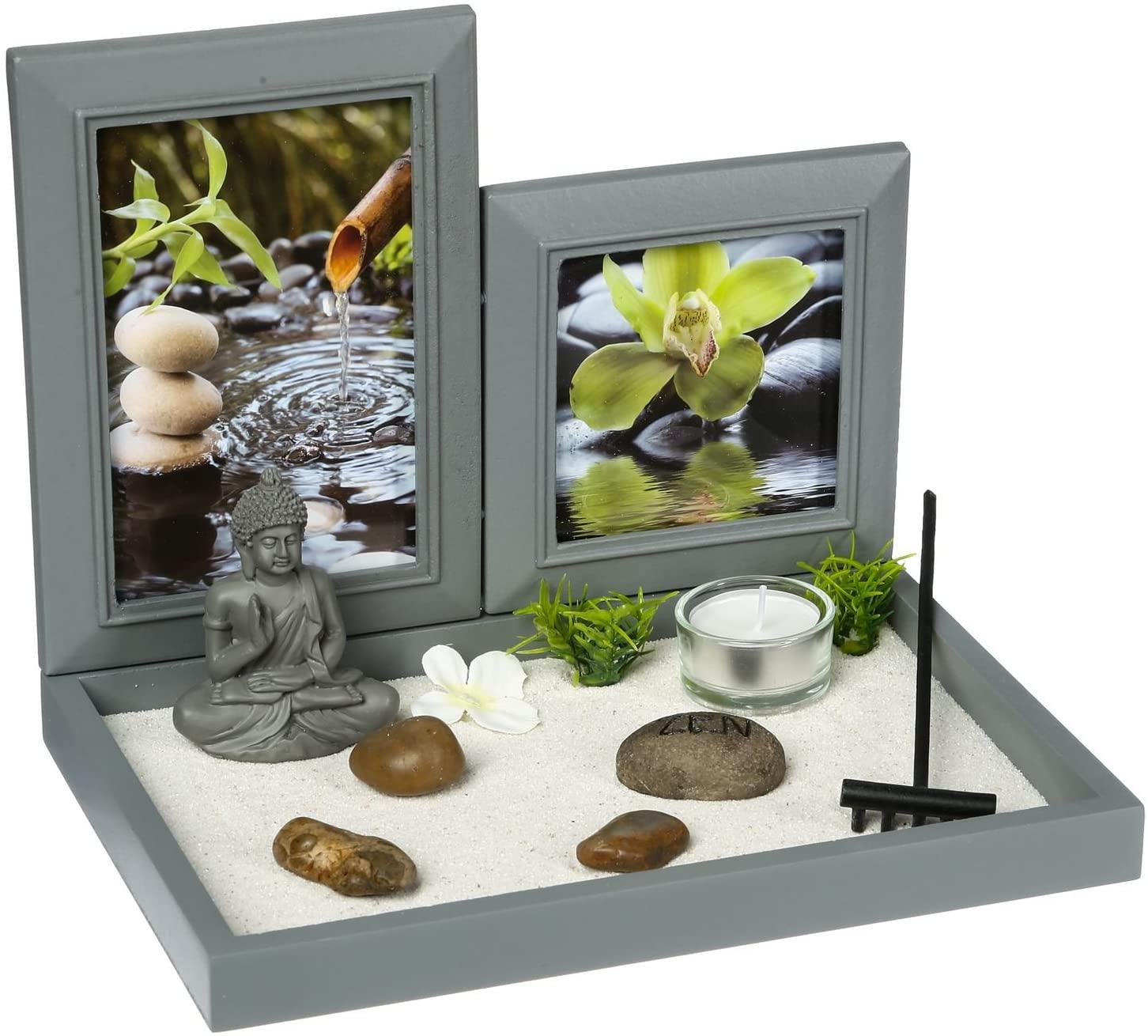 ¡Este jardín zen en miniatura es muy completo!