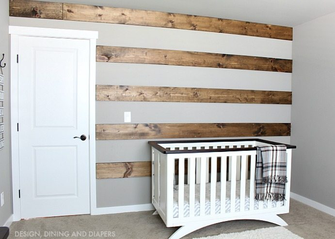 Wood Striped Wall: These 50 Cheap & Easy Farmhouse Decor Ideas will help you save money and transform your space.