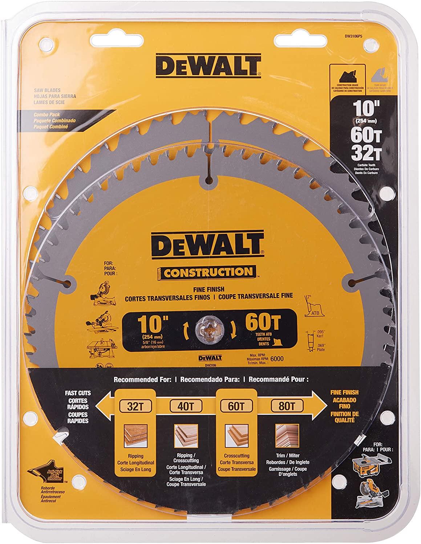 DeWALT 10-Inch General-Purpose Circular Saw Blade Set