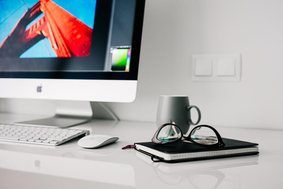 Oficina, Casa, Gafas, Espacio De Trabajo, Escritorio