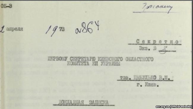 Доповідна записка щодо порушень під час будівництва ЧАЕС, 1973 рік