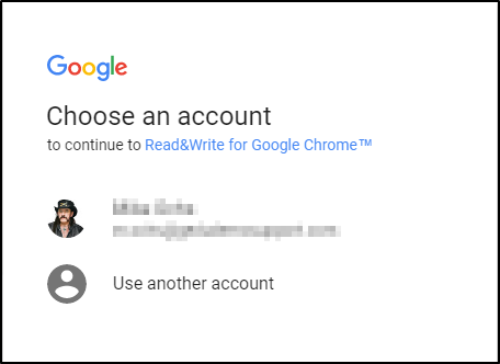 Choose an Account