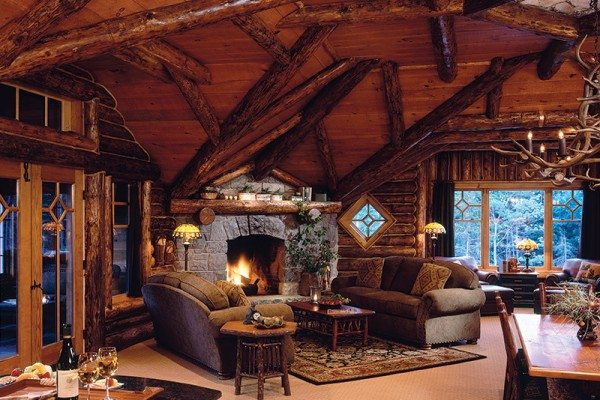 Abstract Log Beams Match Ceiling Angles