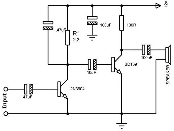 Bd139 Amplifier Circuit Diagram