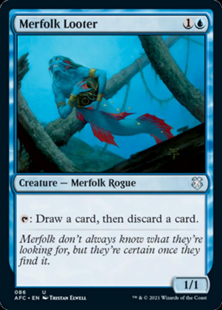 Merfolk Looter Adventures in the Forgotten Realms MTG Card