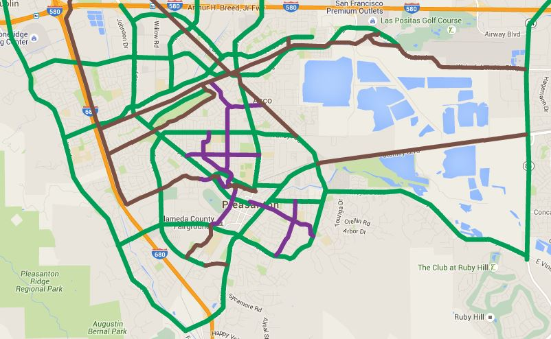 Pleasanton Bikeways Map.JPG