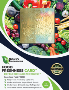 Natures frequencies Food Freshness card