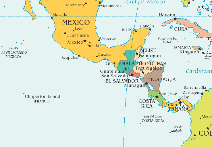 Locating The 50 States Of The United States, Canada, Mexico, Cuba ...