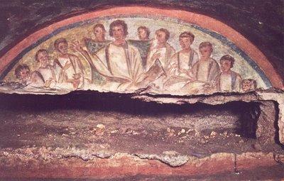 Resultado de imagem para arte paleocristã catacumbas santa domitila