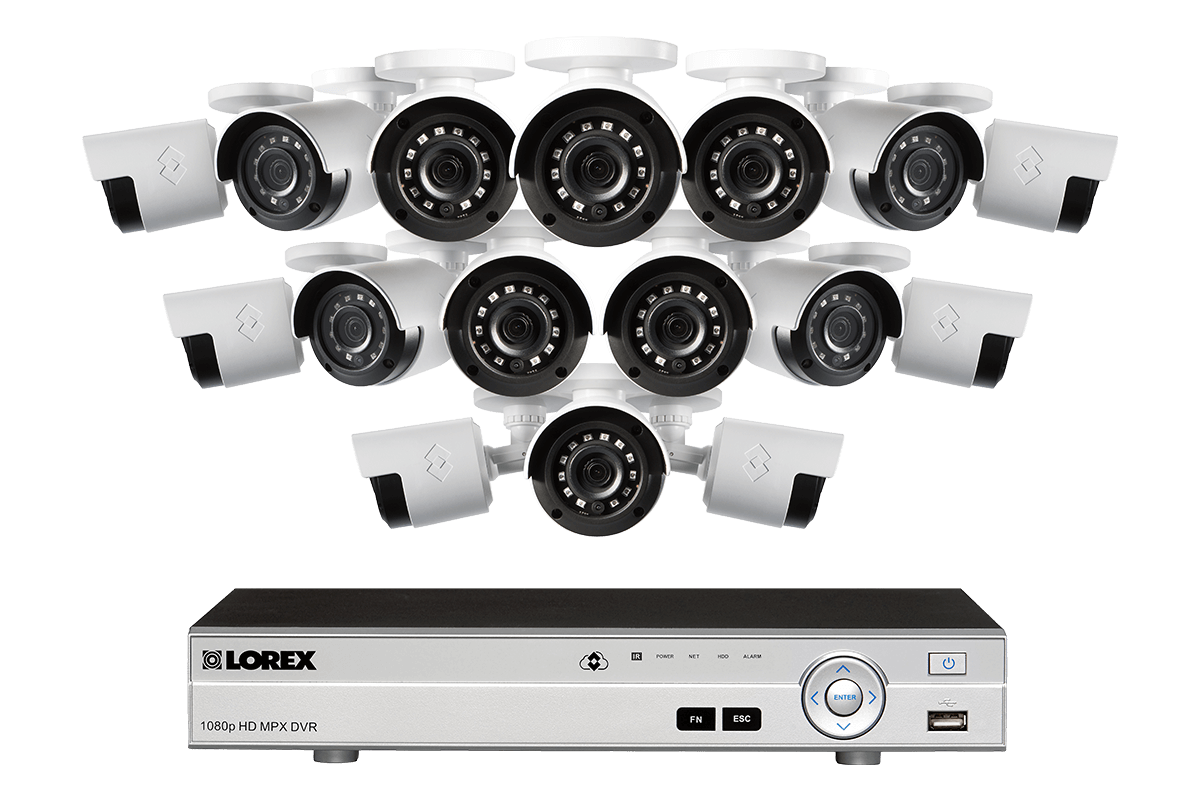 LX1080-166 sixteen camera security system