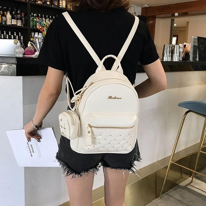 Balo Nữ Mini Hàn Quốc 2020 - Tặng Túi Đeo Nhỏ - BH 12 Tháng